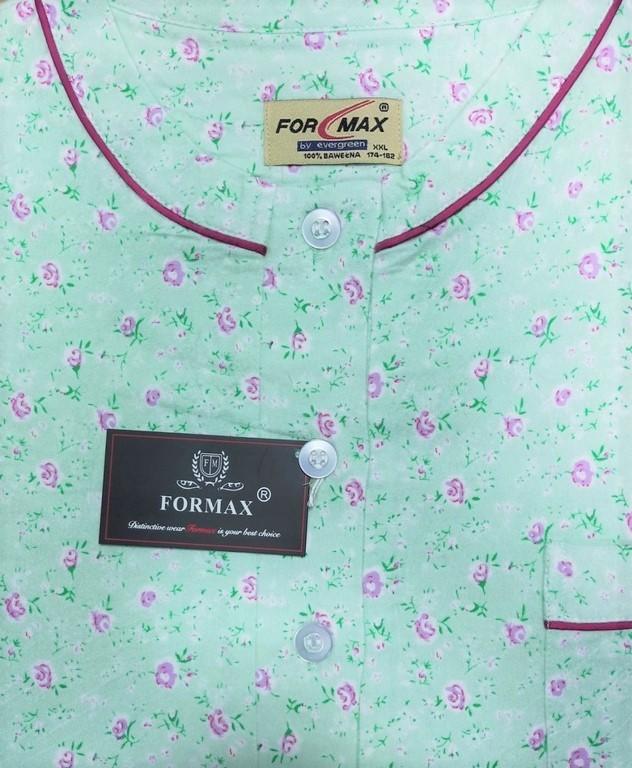 koszula nocna klasyczna FLANELOWA PISTACJA M-XXL