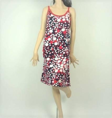 Sukienka Plażowa Bawełna BĄBELKI MARINE 1XL