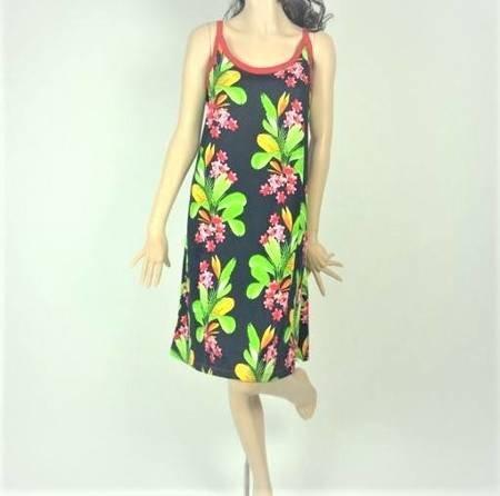 Sukienka Plażowa Bawełna LIŚCIE BUKIET L