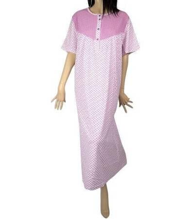 koszula nocna tradycyjna kr. ręk. KRATECZKA MALINA
