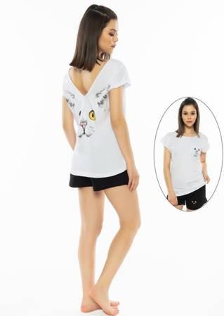 piżama damska KICIA biały/czarny M/38