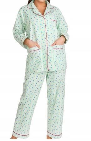 piżama damska tradycyjna FLANELA SELEDYN M-XXXL