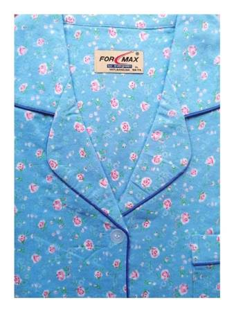 piżama damska tradycyjna FLANELOWA LAZUR M-XXXL