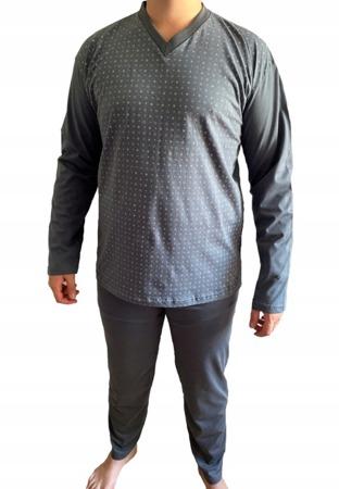 piżama męska ARNOLD - POPIEL 3XL-5XL
