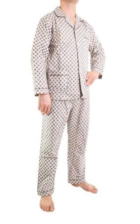piżama męska flanelowa ODCIENIE BEŻU M-5XL