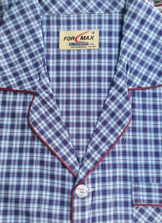 piżama męska rozpinana KRATKA BORDO M-5XL