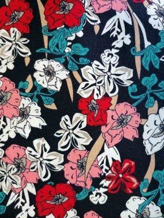 sukienka plażowa KWIATY KOLOR BLEND S-3XL